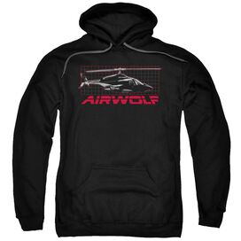 Airwolf Grid Adult Pull Over Hoodie