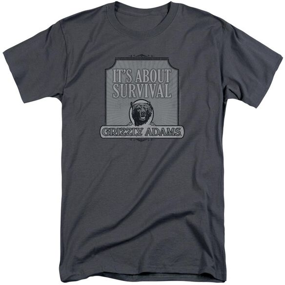 Grizzly Adams Survival Short Sleeve Adult Tall T-Shirt