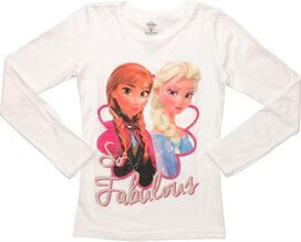 Frozen So Fabulous Long Sleeve Youth T-Shirt