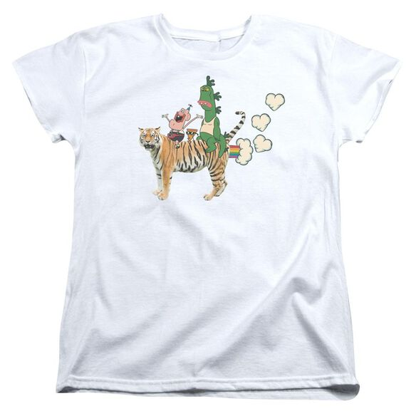 Uncle Grandpa Fart Hearts Short Sleeve Womens Tee T-Shirt