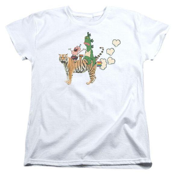 Uncle Grandpa Fart Hearts Short Sleeve Womens Tee T-Shirt