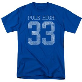 Married With Children Polk High Short Sleeve Adult Royal T-Shirt