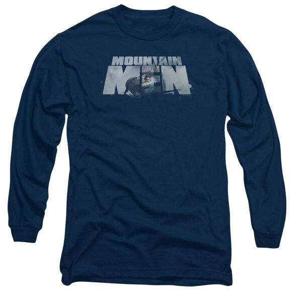 Mountain Men Live For A Living Long Sleeve Adult T-Shirt