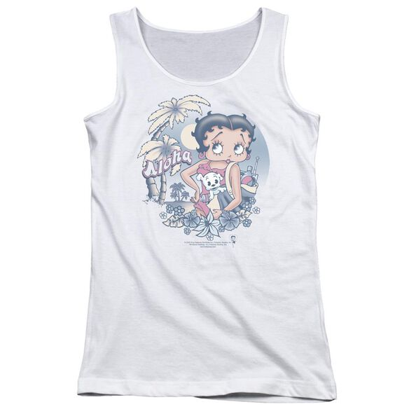 Betty Boop Aloha Juniors Tank Top