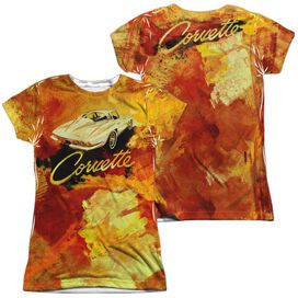 Chevrolet Painted Sting Ray (Front Back Print) Short Sleeve Junior Poly Crew T-Shirt