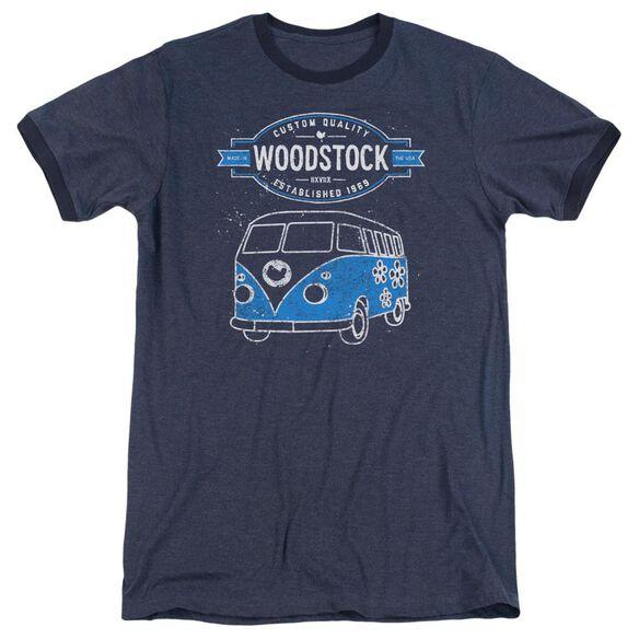Woodstock Van Adult Heather Ringer Navy