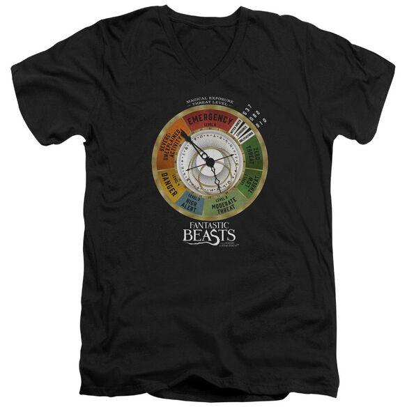 Fantastic Beasts Threat Gauge Short Sleeve Adult V Neck T-Shirt