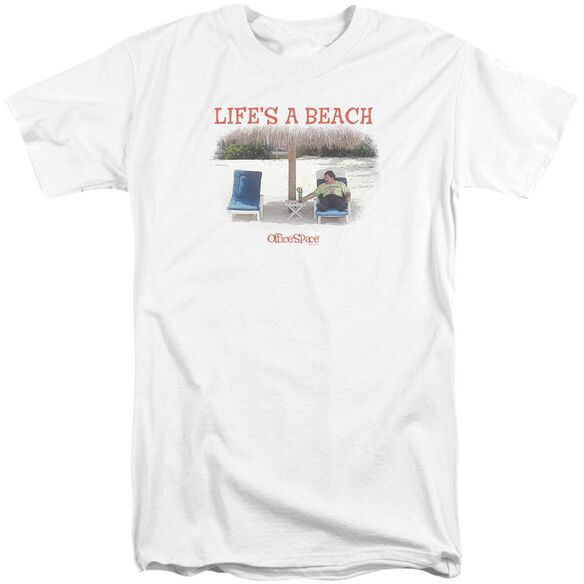 Office Space Lifes A Beach Short Sleeve Adult Tall T-Shirt