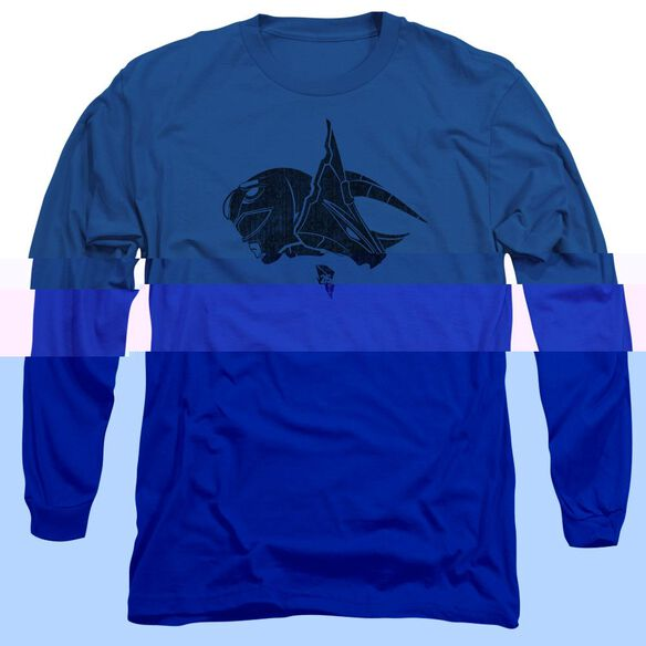Power Rangers Long Sleeve Adult Royal T-Shirt