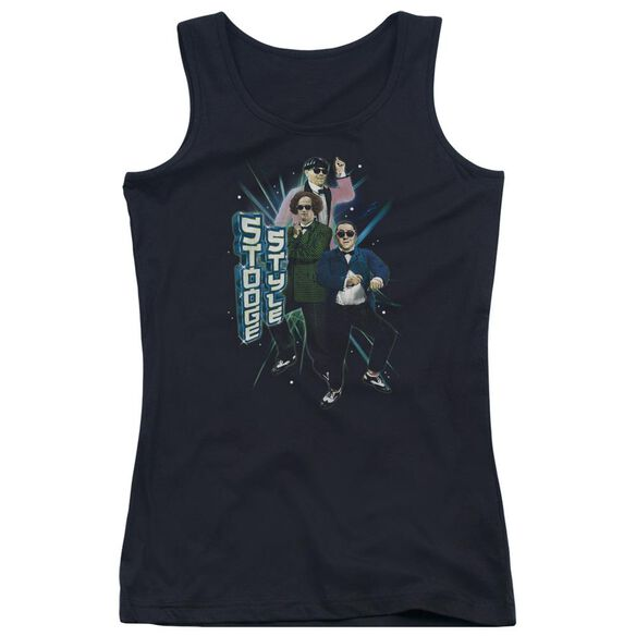 Three Stooges Stooge Style Juniors Tank Top