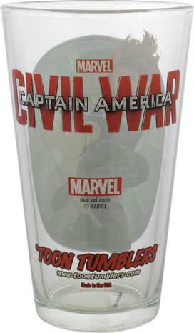 Captain America Civil War Black Widow Pint Glass