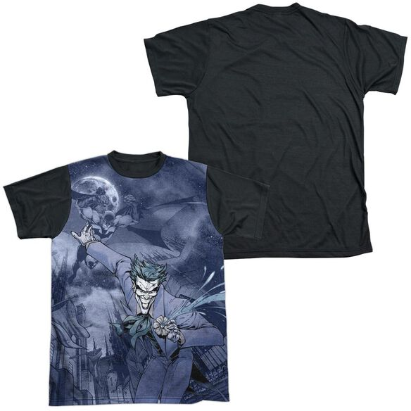 Batman Catch The Joker Short Sleeve Adult Front Black Back T-Shirt