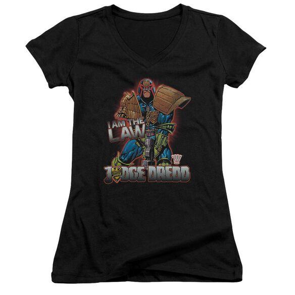 Judge Dredd Law Junior V Neck T-Shirt
