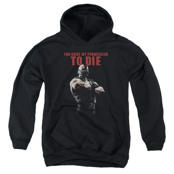 Dark Knight Rises Permission To Die Youth Pull Over Hoodie