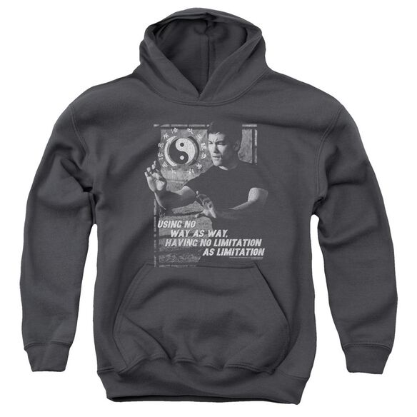 Bruce Lee No Way As A Way Youth Pull Over Hoodie