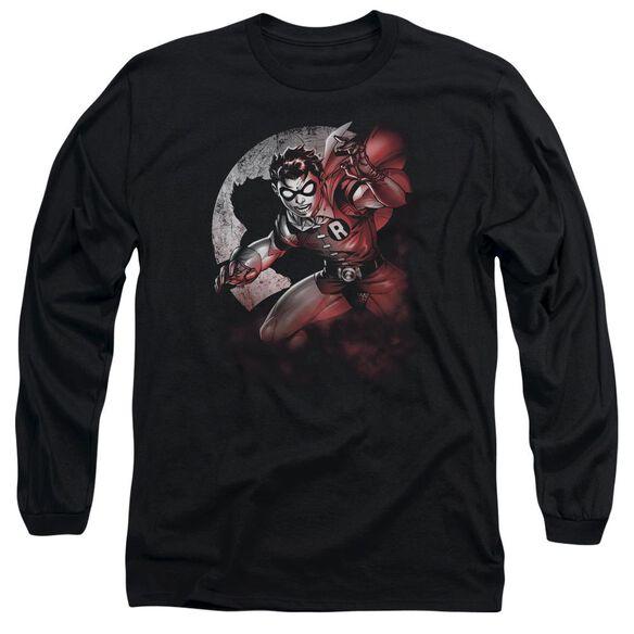 BATMAN ROBIN SPOTLIGHT - L/S ADULT 18/1 - BLACK T-Shirt