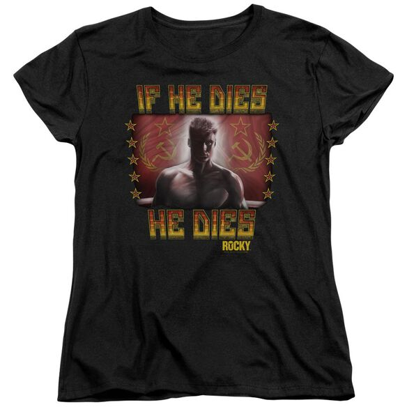 Rocky Iv Condolences Short Sleeve Womens Tee T-Shirt