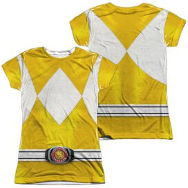 Power Rangers Yellow Ranger (Front Back Print) Short Sleeve Junior Poly Crew T-Shirt