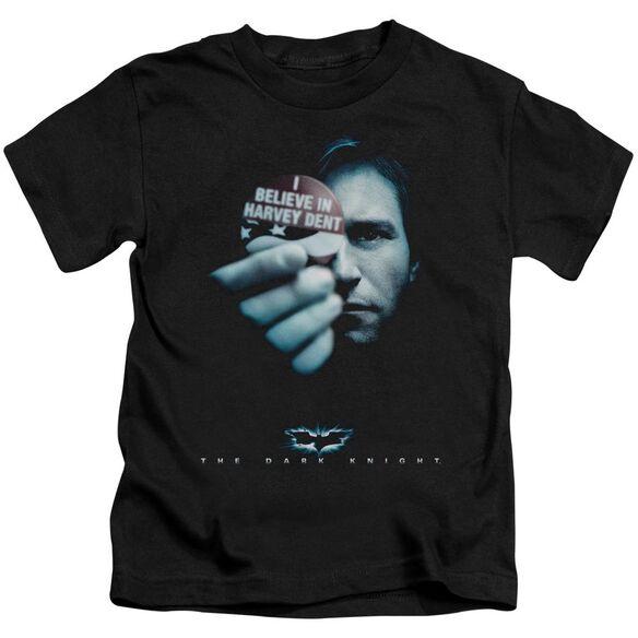 Dark Knight Harvey Dent Short Sleeve Juvenile Black T-Shirt