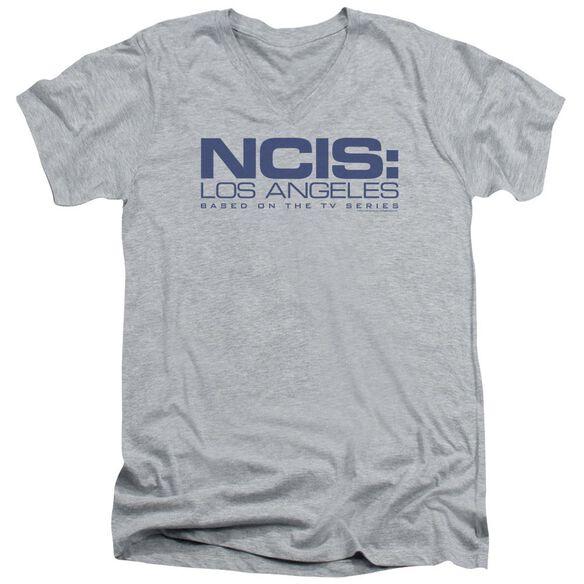 Ncis La Logo Short Sleeve Adult V Neck Athletic T-Shirt