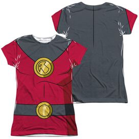 Batman Unlimited Robin Uniform (Front Back Print) Short Sleeve Junior Poly Crew T-Shirt