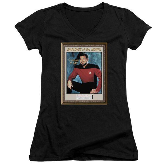 Star Trek Employee Of Month Junior V Neck T-Shirt