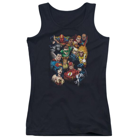 Jla The League's All Here Juniors Tank Top