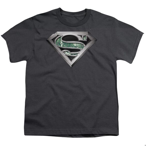 SUPERMAN CIRCUITRY LOGO - S/S YOUTH 18/1 - CHARCOAL T-Shirt