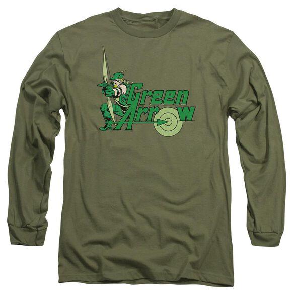 Dc Arrow Long Sleeve Adult Military T-Shirt