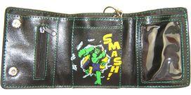 Incredible Hulk Head Tri-Fold Chain Wallet