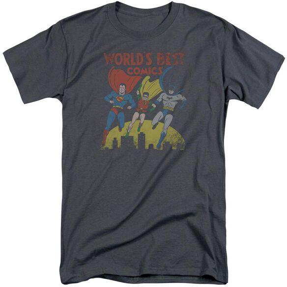 Jla World's Best Short Sleeve Adult Tall T-Shirt
