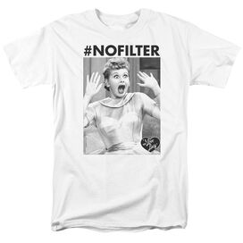 I Love Lucy No Filter Short Sleeve Adult T-Shirt