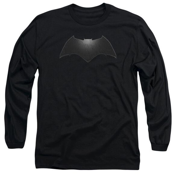 Batman V Superman Beveled Bat Logo Long Sleeve Adult T-Shirt