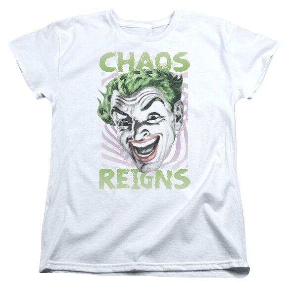 Batman Classic Tv Chaos Reigns Short Sleeve Womens Tee T-Shirt
