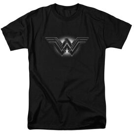 Batman V Superman Glow Emblem Short Sleeve Adult Black T-Shirt