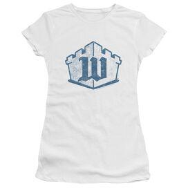 Castle Monogram Short Sleeve Junior Sheer T-Shirt