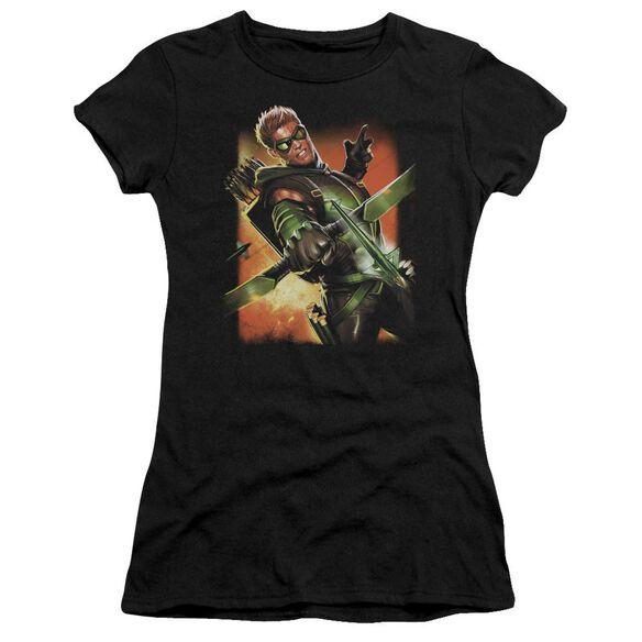 Jla Green Arrow #1 Short Sleeve Junior Sheer T-Shirt