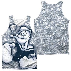 Popeye Tattooed Sailor Adult 100% Poly Tank Top