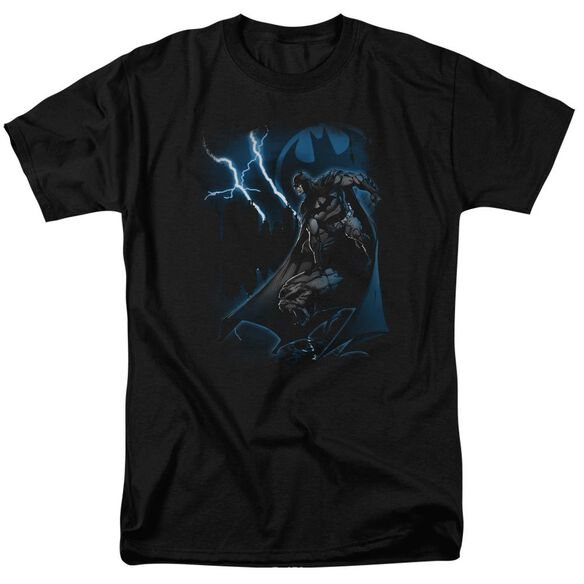 Batman Lightning Strikes Short Sleeve Adult T-Shirt