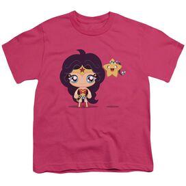 Jla Cute Wonder Woman Short Sleeve Youth Hot T-Shirt