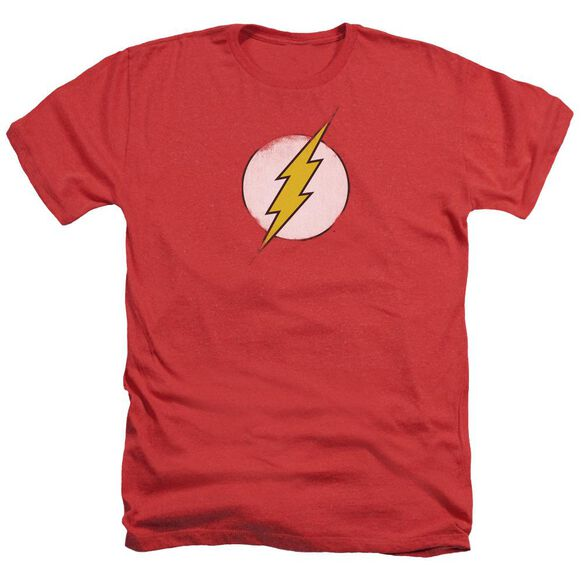 Dc Flash Rough Flash Logo Adult Heather