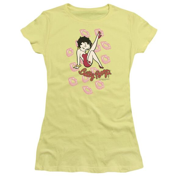 Betty Boop Kisses Short Sleeve Junior Sheer T-Shirt