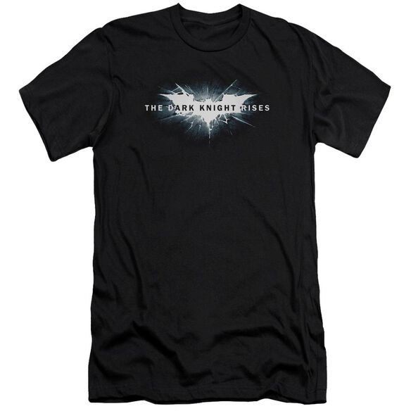 Dark Knight Rises Cracked Bat Logo Short Sleeve Adult T-Shirt