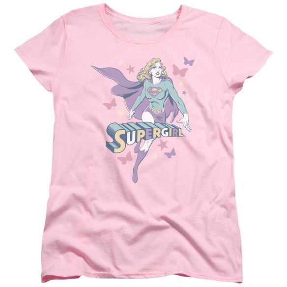 Dc Supergirl Pastels Short Sleeve Womens Tee T-Shirt