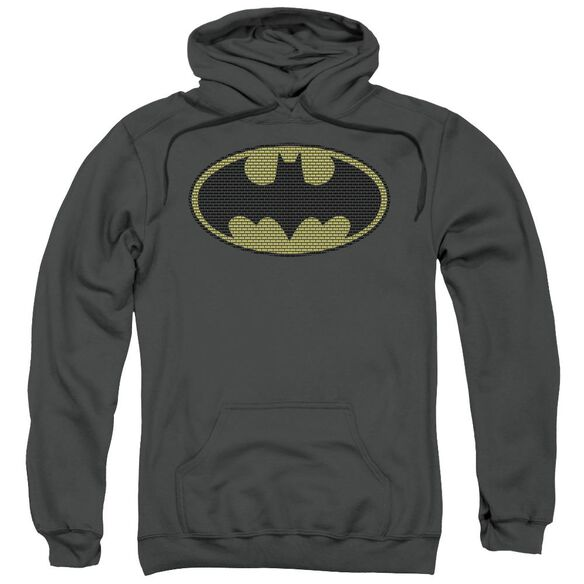 Batman Little Logos Adult Pull Over Hoodie
