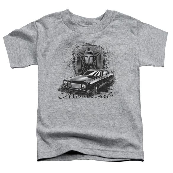 Chevrolet Monte Carlo Drawing Short Sleeve Toddler Tee Athletic Heather T-Shirt