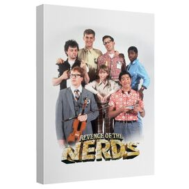 Revenge Of The Nerds Cast Canvas Wall Art With Back Board