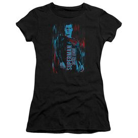 Justice League Movie Superman Short Sleeve Junior Sheer T-Shirt