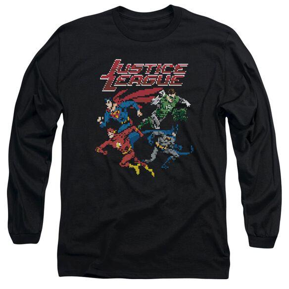 Jla Pixel League Long Sleeve Adult T-Shirt