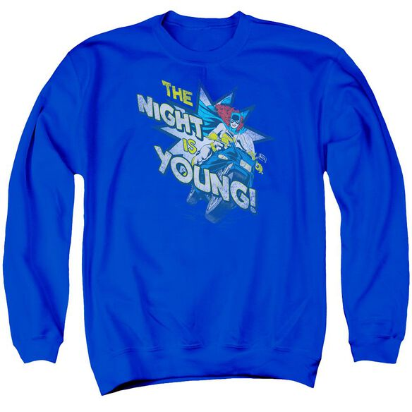 Dc The Night Is Young Adult Crewneck Sweatshirt Royal